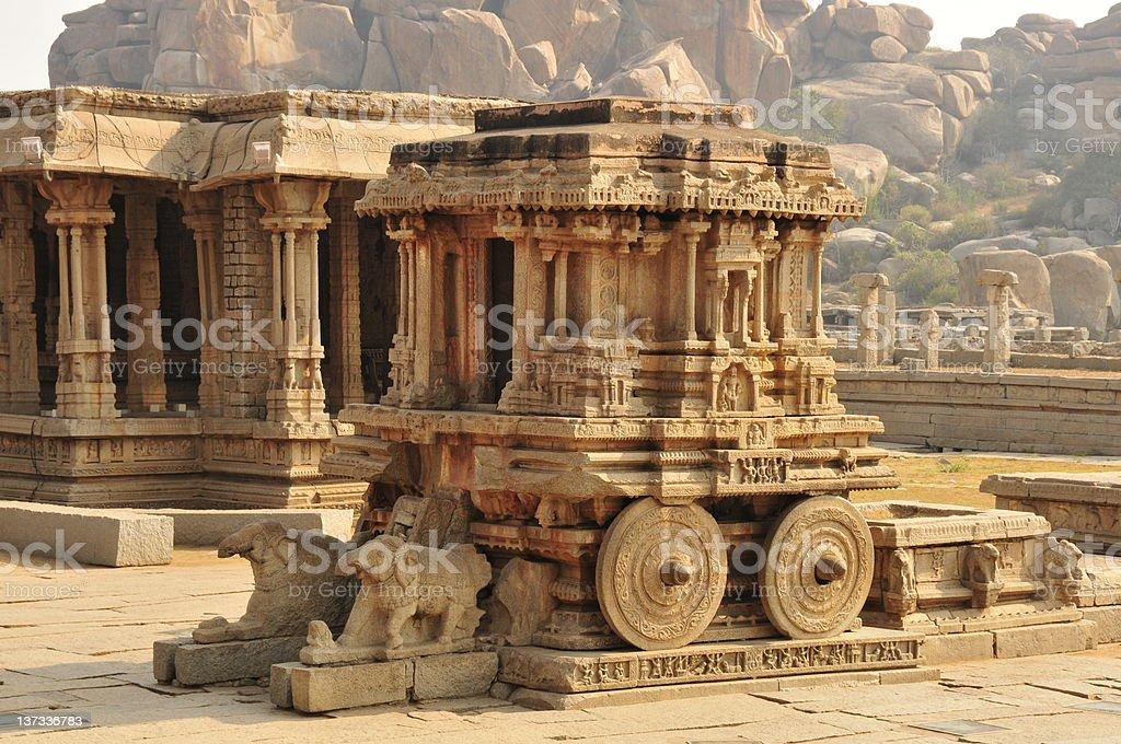 Vittala Temple Stone Chariot,Hampi,Karnataka,India. stock photo