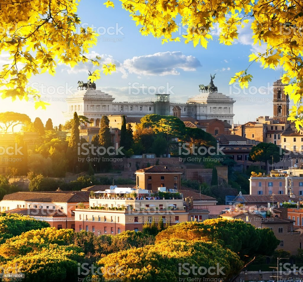 Vittoriano in the autumn stock photo