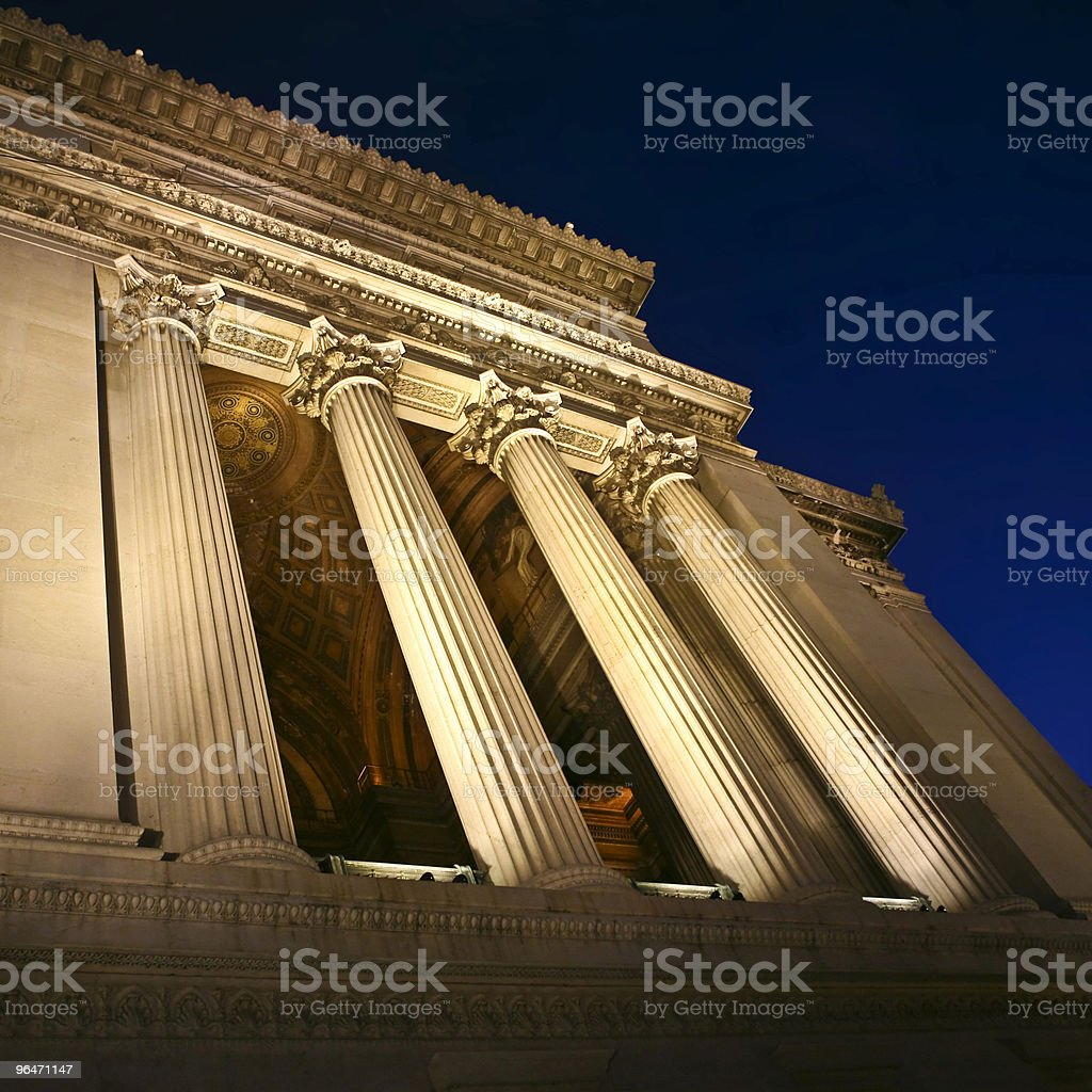 Vittoriano in the night royalty-free stock photo