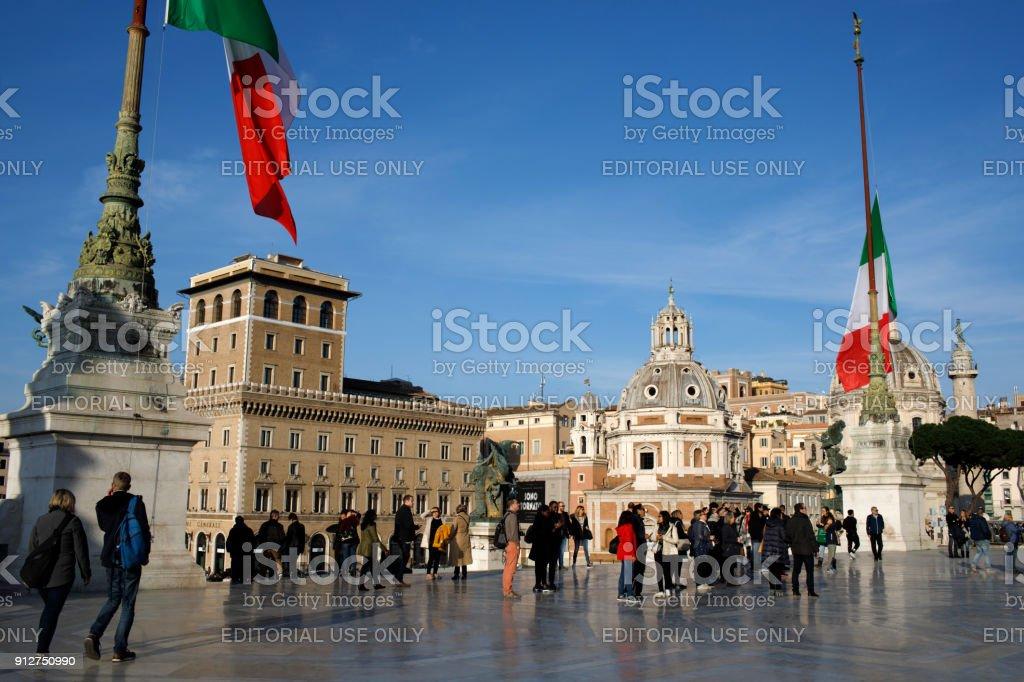Vittoriano Piazza Venezia Italy stock photo