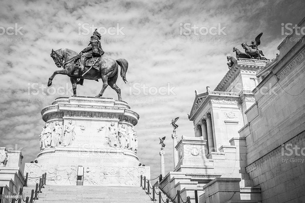 Vittorio Emanuele Monument in Rome royalty-free stock photo