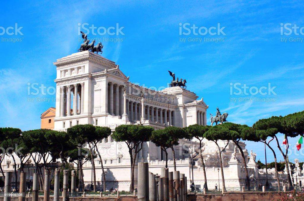 Vittorio Emanuele Monument on Piazza Venezia stock photo