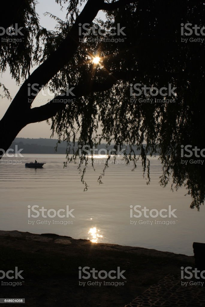 129_ Viverone Lake stock photo