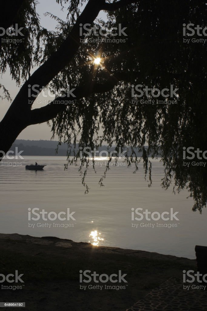 143_ Viverone Lake stock photo