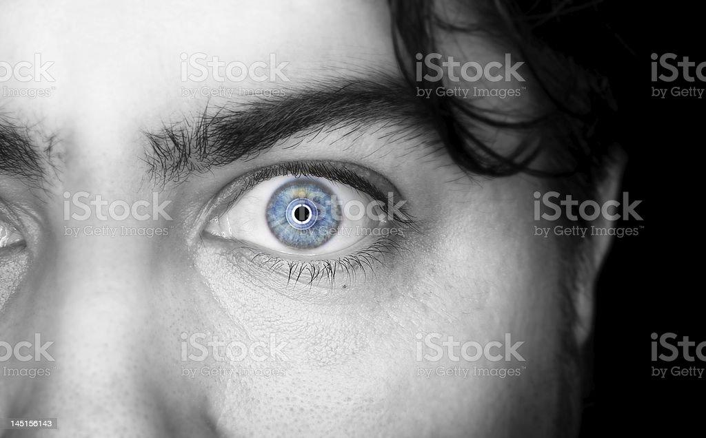 Vivid Blue Eye royalty-free stock photo