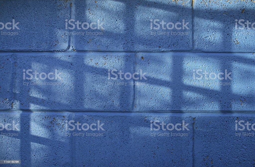 Vivid Blue Wall stock photo