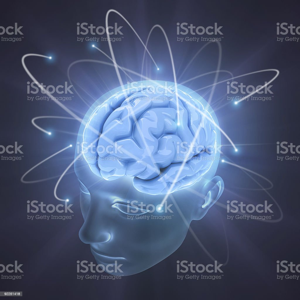Vivid Brain stock photo