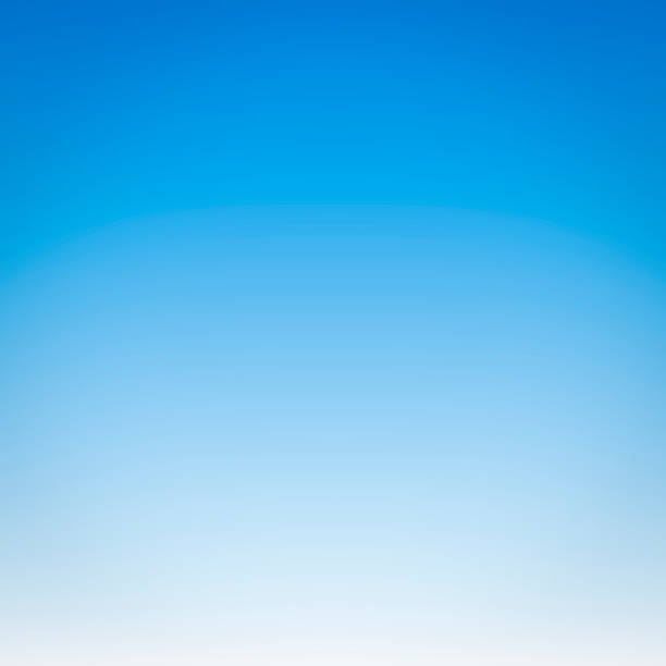 Vivid Cloudless Sky (1:1 Format) stock photo