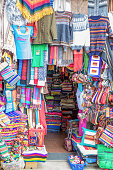 Vivid Color Traditional Woven Textiles, La Paz, Bolivia