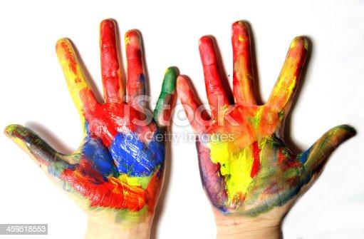 istock Vivid colored hands 459518553