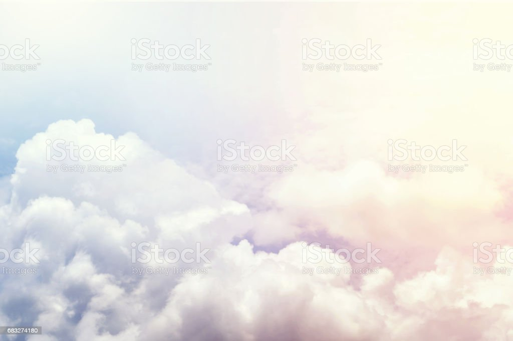 vivid colorful clouds , colorful sky stock photo