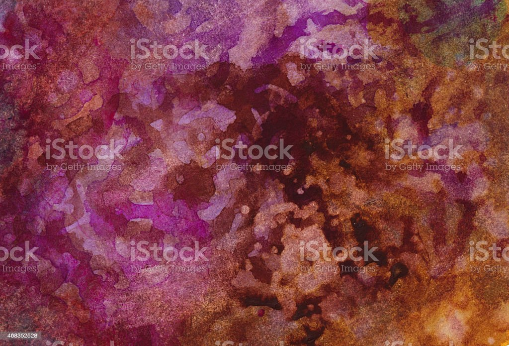 Vivid colors of a textured and hand painted watercolor royalty-free stock photo
