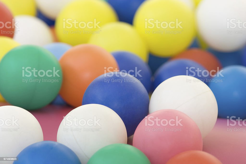 Vivid Coloured Balls, Full-frame Image royalty-free stock photo