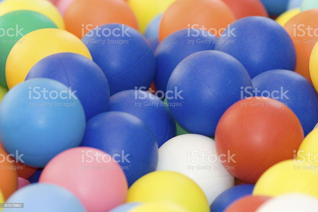 Ballons de couleur éclatantes, plein cadre Image photo libre de droits