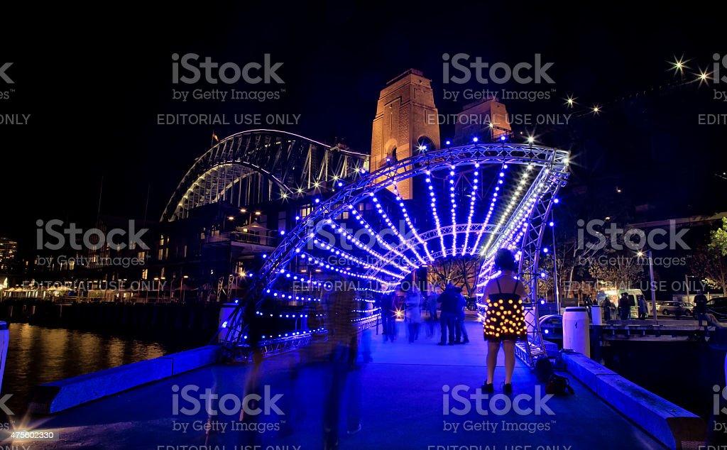 Vivid Festival 2015 in Sydney stock photo