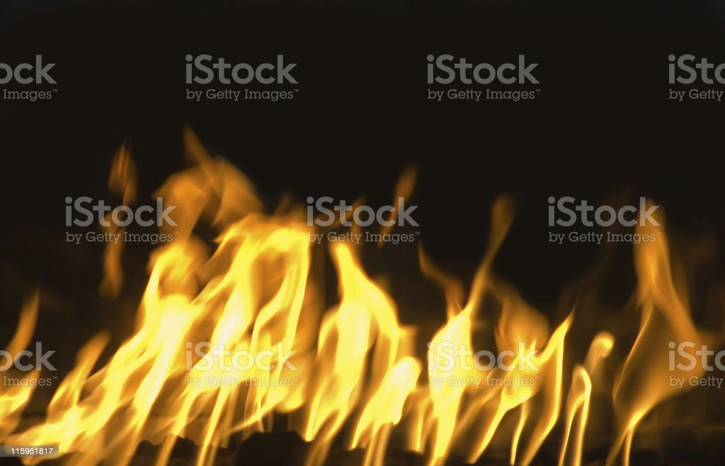 Vivid Flames With Copy Space royalty-free stock photo
