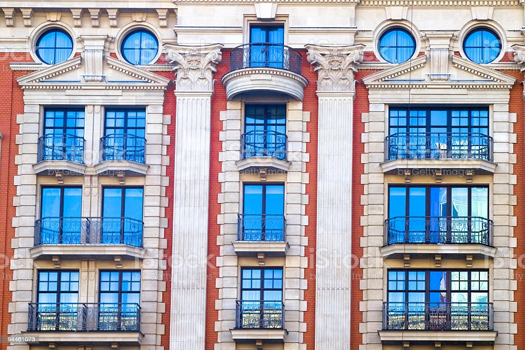 Vivid front of the office building royalty-free stock photo