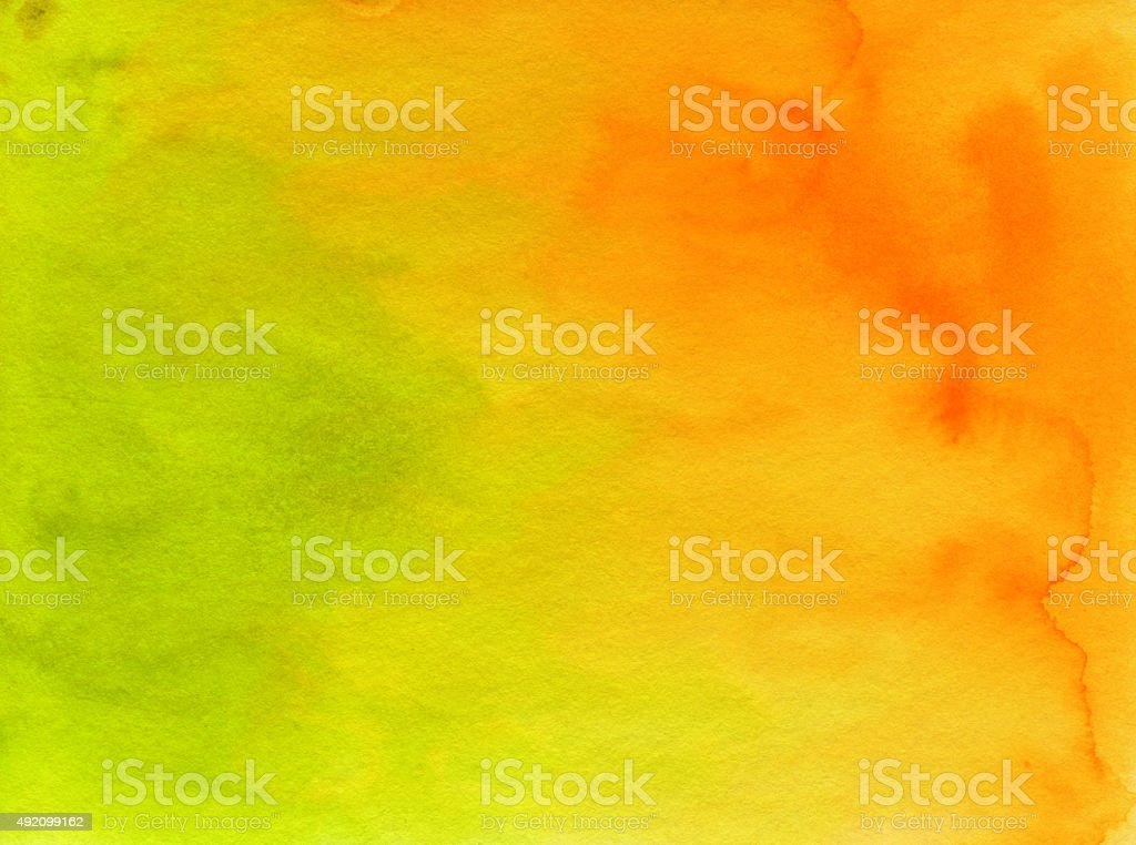 Vivid hand painted watercolor and ink background stock photo