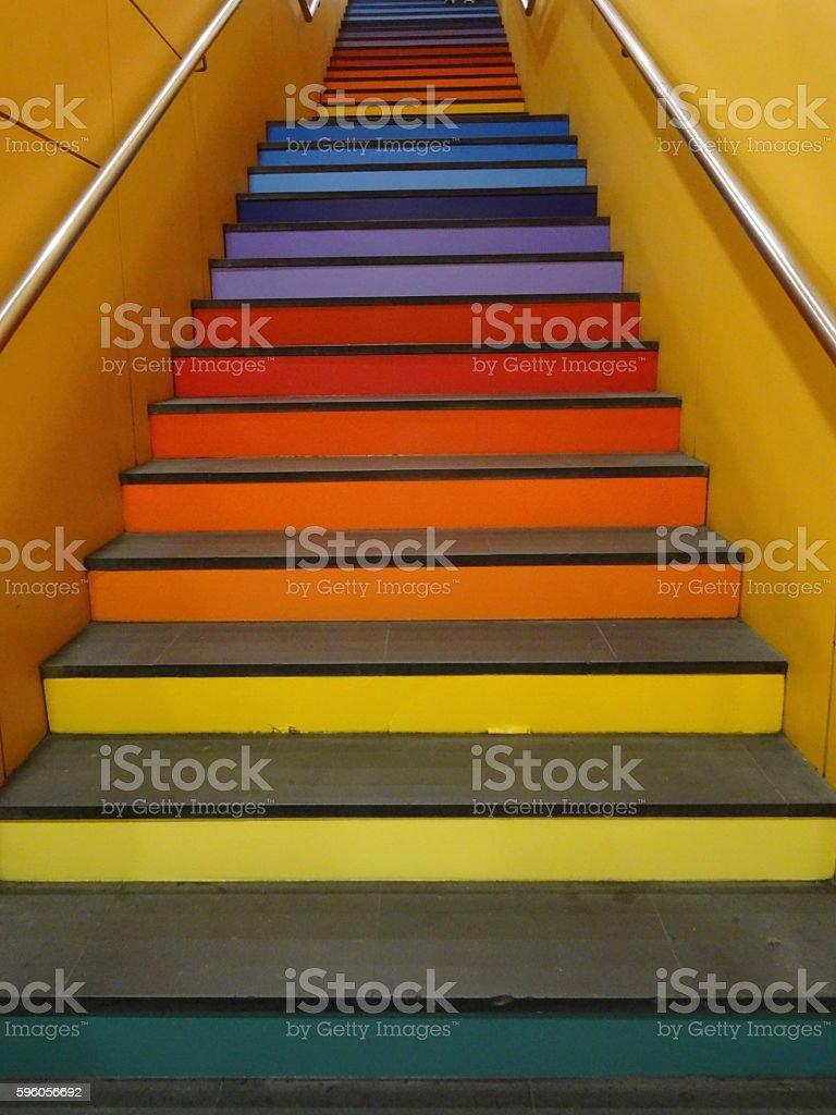 Vivid rainbow steps royalty-free stock photo