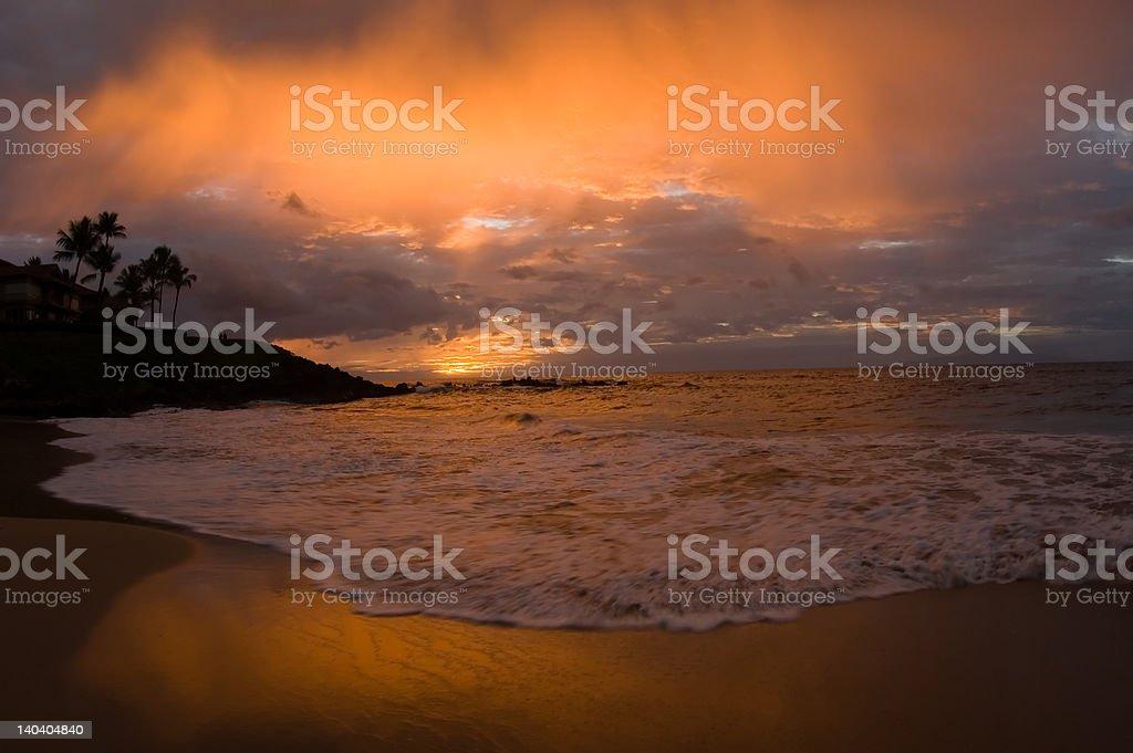 Vivid Sky over Paradise royalty-free stock photo