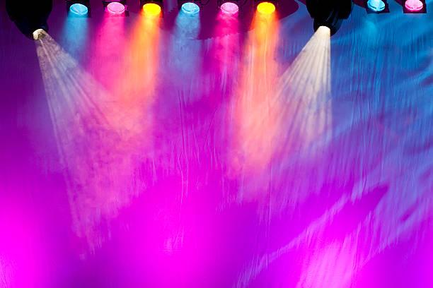vivid stage spotlights stock photo
