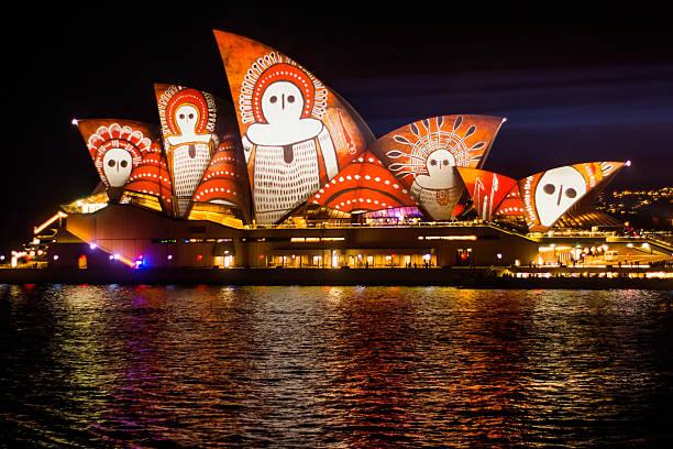 Vivid Sydney 2016 - Opera House stock photo