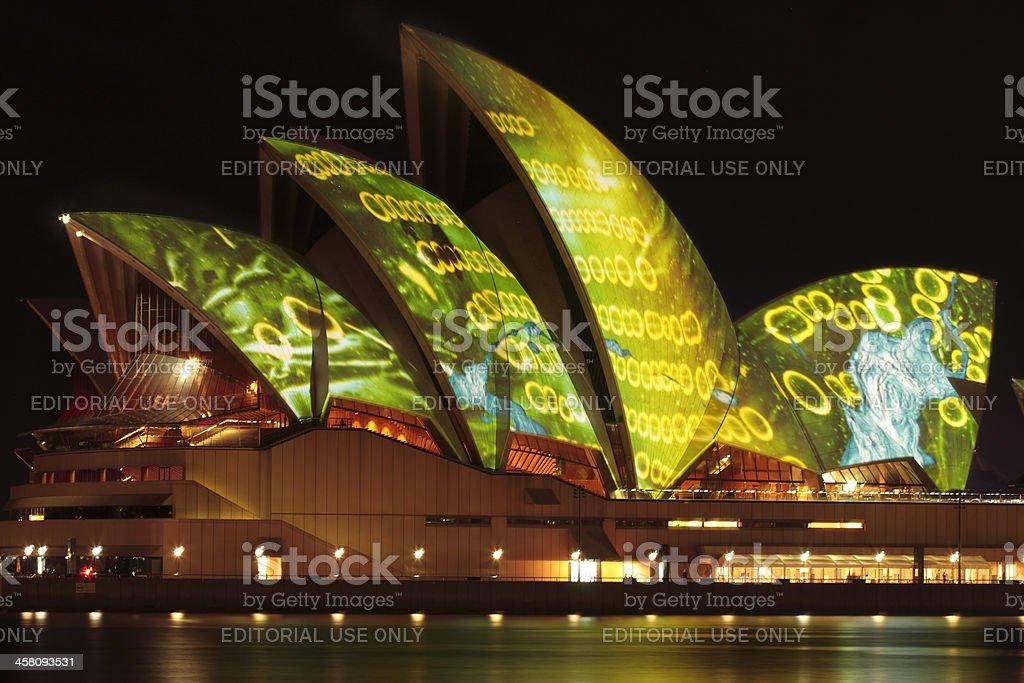 Vivid Sydney Festival - Opera House royalty-free stock photo