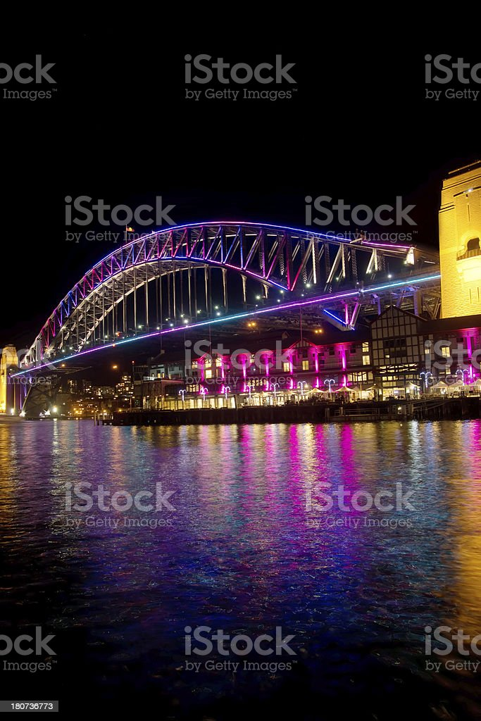 Vivid Sydney - Harbour Bridge stock photo