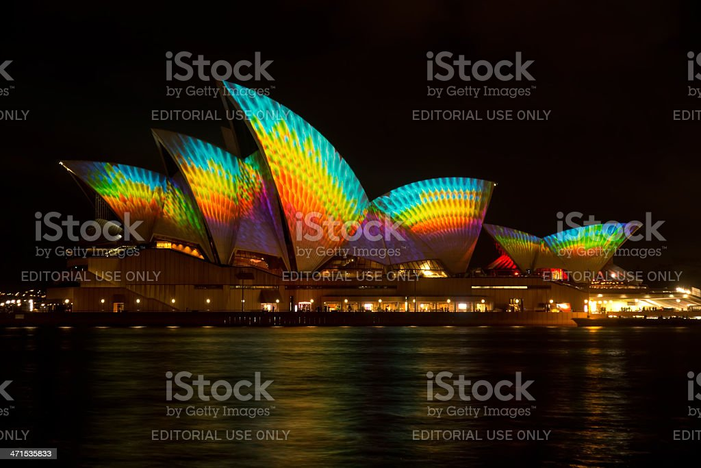 Vivid Sydney - Opera House royalty-free stock photo