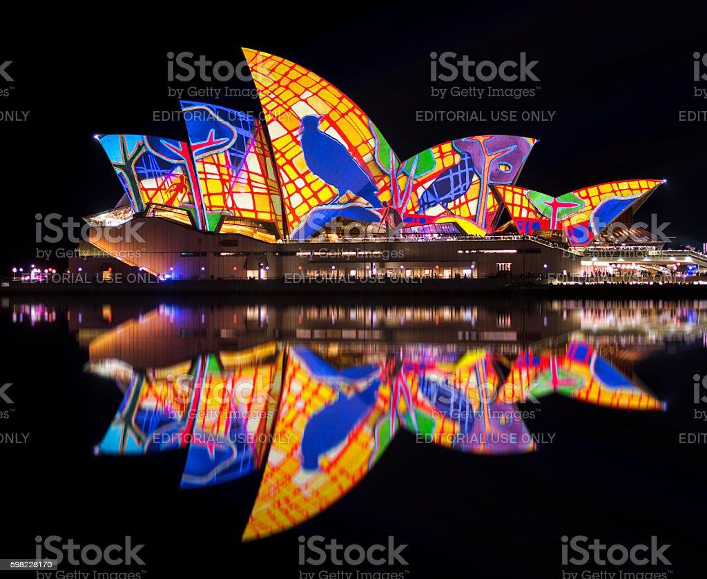 Vivid Sydney-Opera House  foto royalty-free