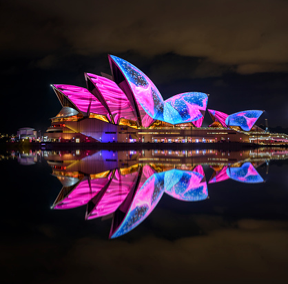 Vivid Sydney Opera House Stock Photo - Download Image Now