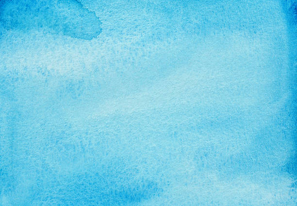 Vivid turquoise blue watercolor background