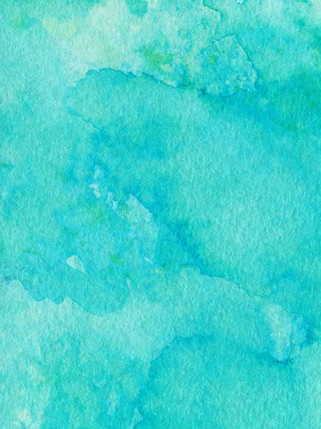 Vivo Color turquesa mano pintado con textura deteriorado - foto de stock