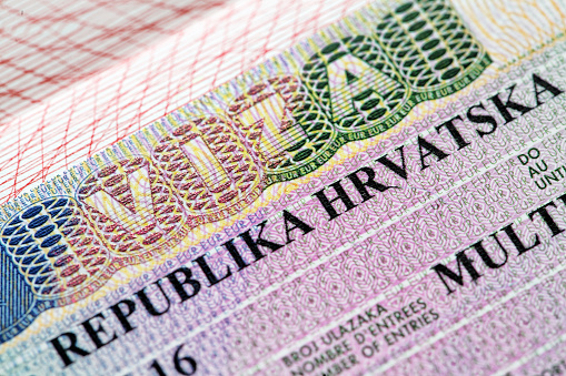 Viza Republika Hrvatska Stock Photo - Download Image Now