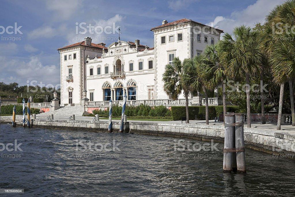 Vizcaya Historic Landmark stock photo