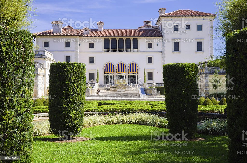 Vizcaya Museum And Gardens In Miami Fl Stock Photo & More Pictures ...