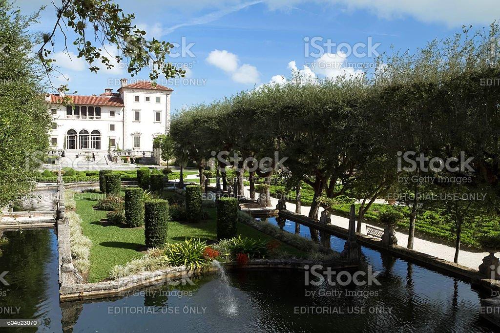 Vizcaya Museum and Gardens located in Miami, Florida, USA stock photo