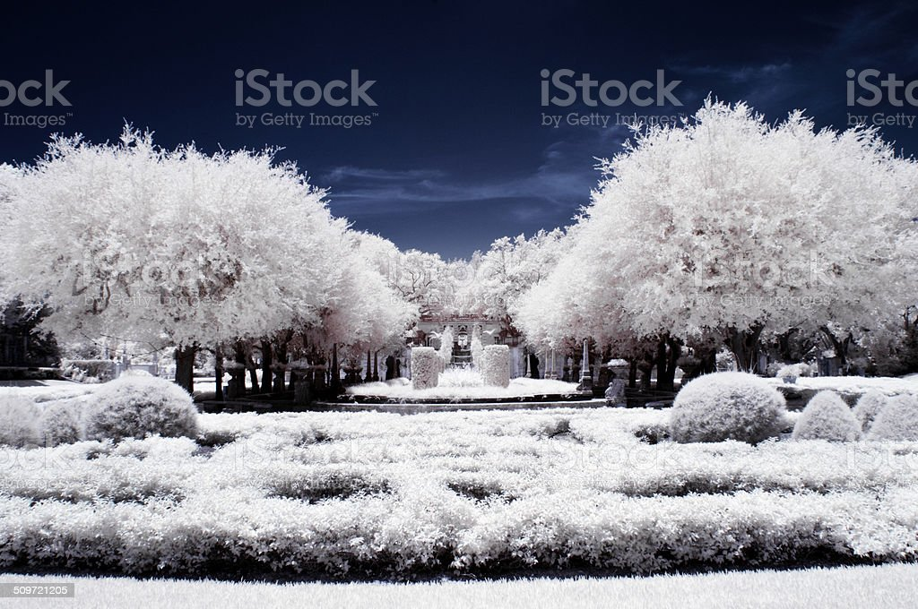 Vizcaya Museum & Gardens,The infrared image. stock photo