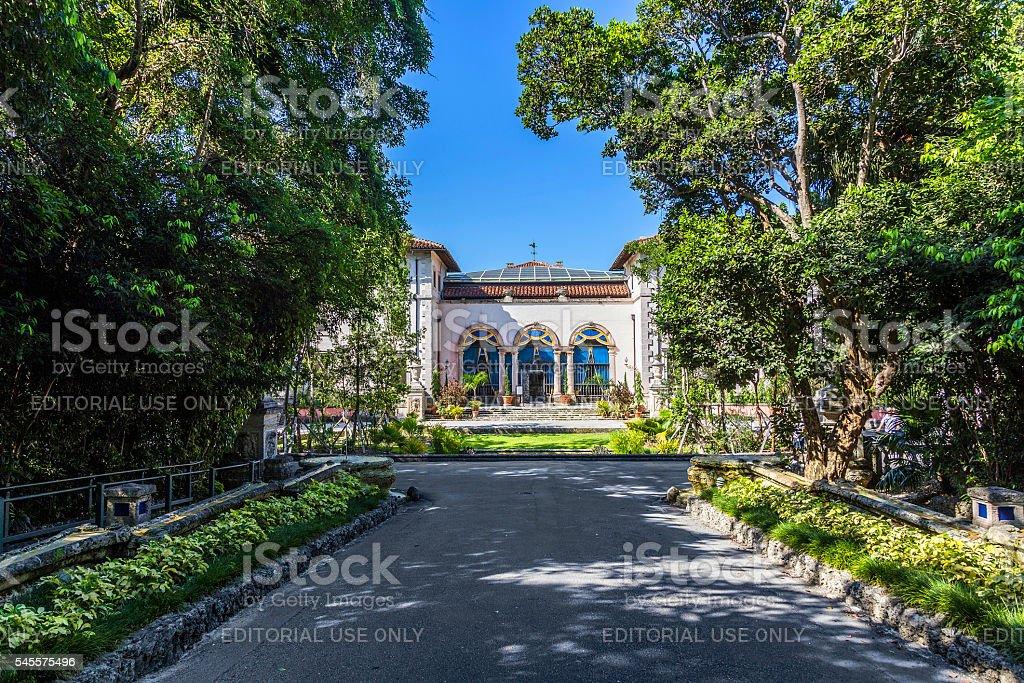 vizcaya Museum in Miami stock photo