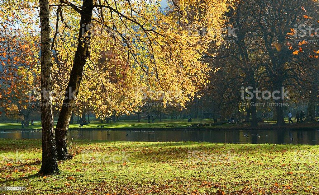 Vizille park in autumn stock photo