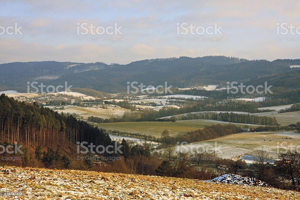 Vizovice highlands royalty-free stock photo