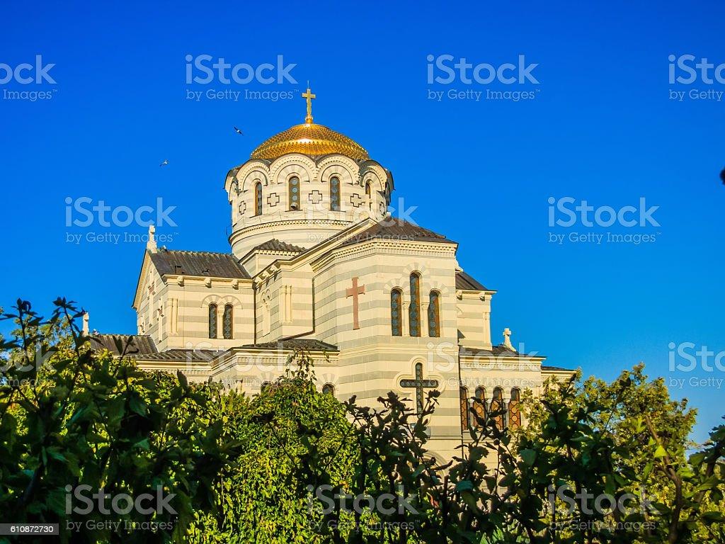 Vladimir Cathedral in Tauric Chersonesos, Sevastopol city, Crime стоковое фото