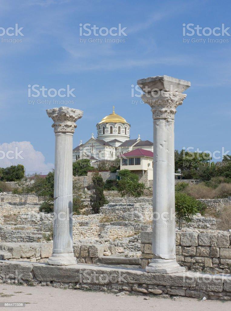 Vladimir Cathedral in the Sevastopol city, Crimea, stock photo
