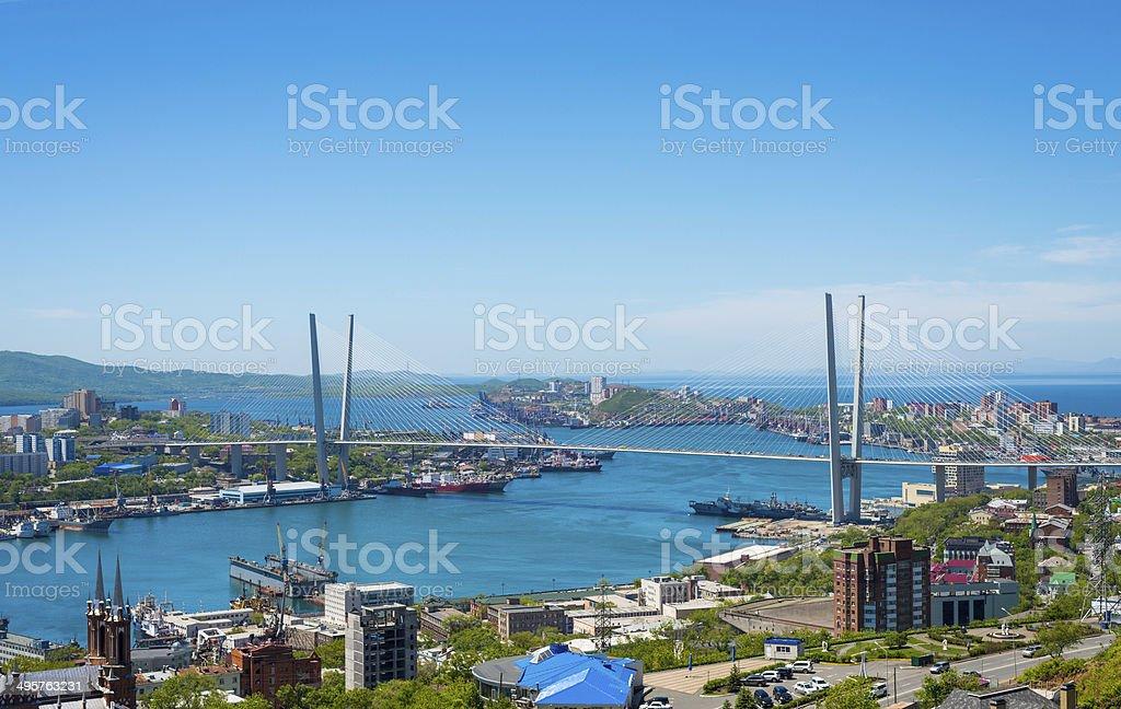 Vladivostok, daylight view. stock photo