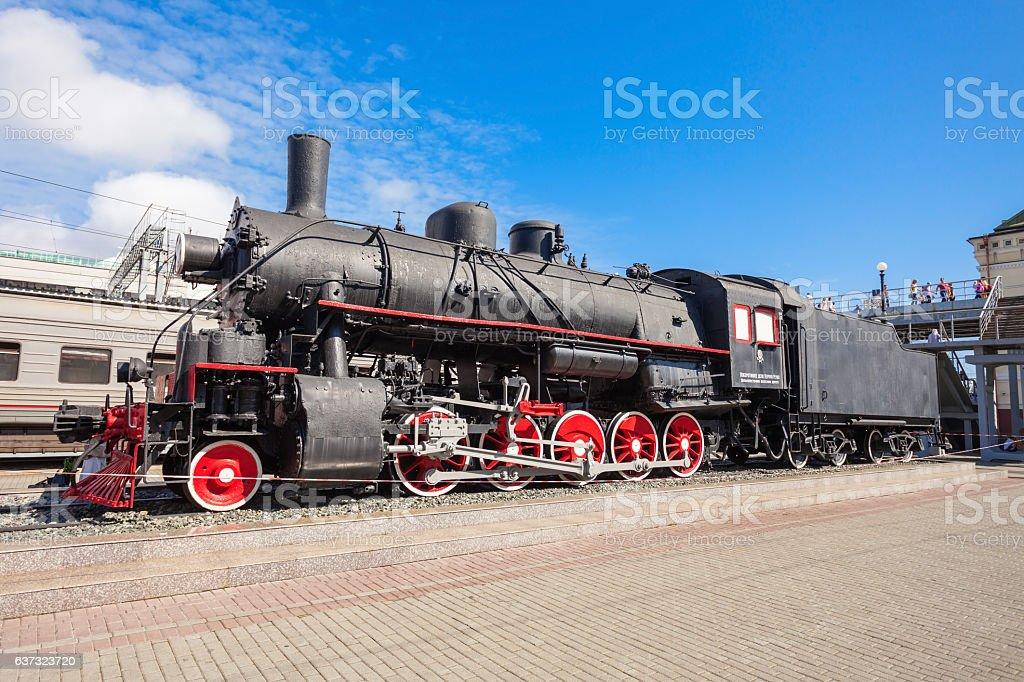 Vladivostok railway station, Russia stock photo