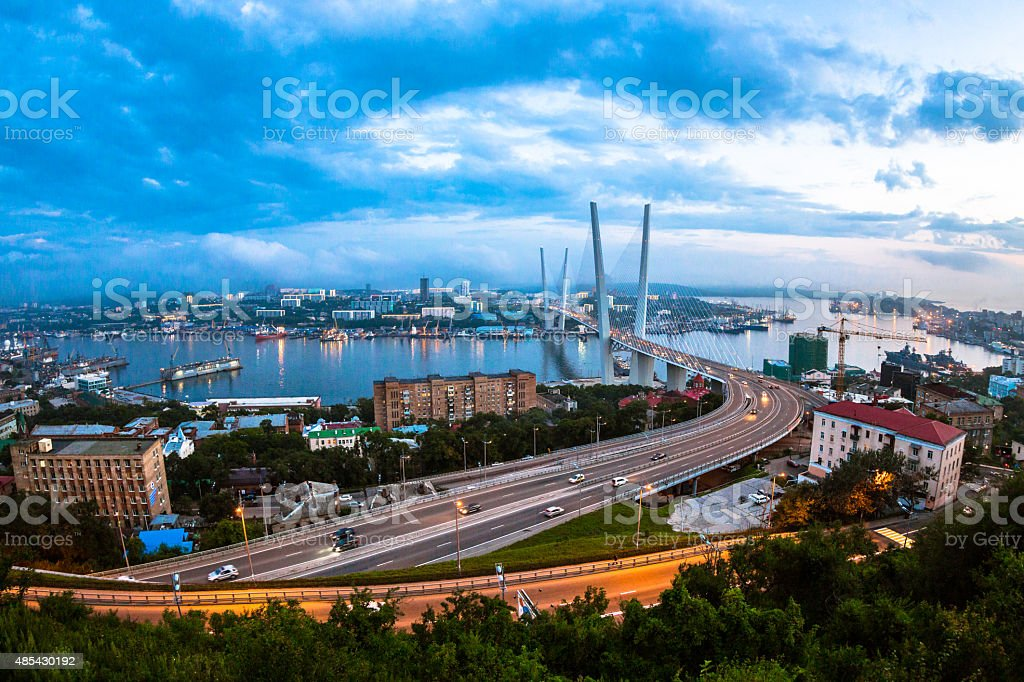 Vladivostok Viewpoint stock photo
