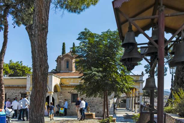 Selanik şehrindeki Vlatadon Manastırı, Yunanistan stok fotoğrafı