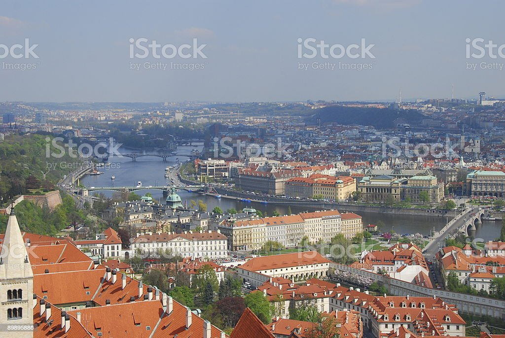 Vlatava River of Prague Czech Republik royalty-free stock photo