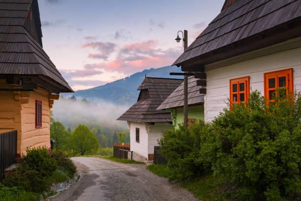 Vlkolinec, Slovakia. stock photo