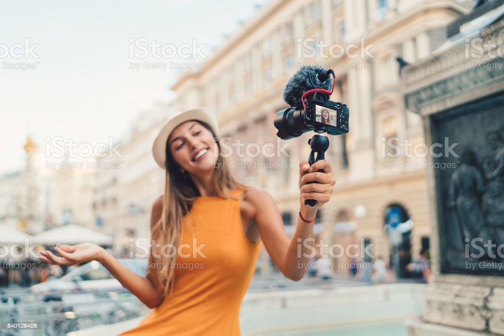 Vlogging stock photo